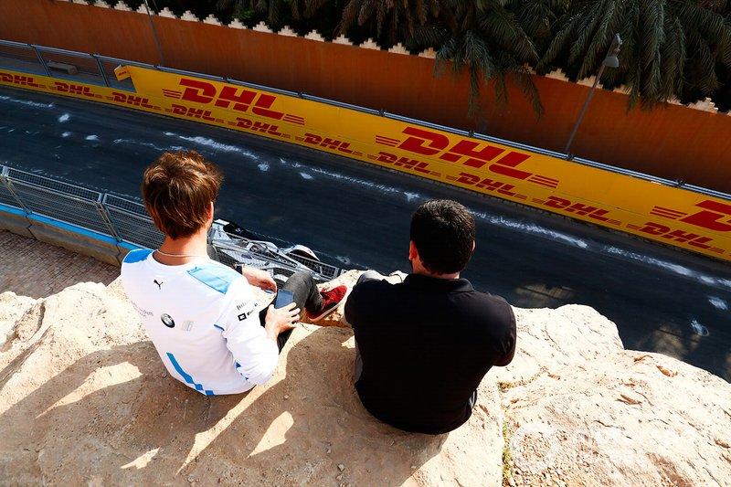 Antonio Felix da Costa, BMW I Andretti Motorsports, sits and watches testing