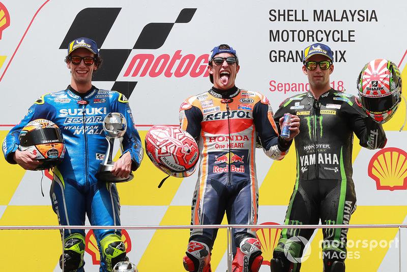 #18 GP de Malaisie - Podium : Marc Márquez, Álex Rins, Johann Zarco