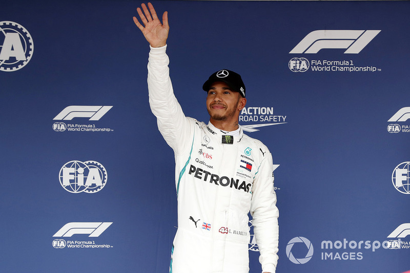 Peraih pole sitter Lewis Hamilton, Mercedes AMG F1