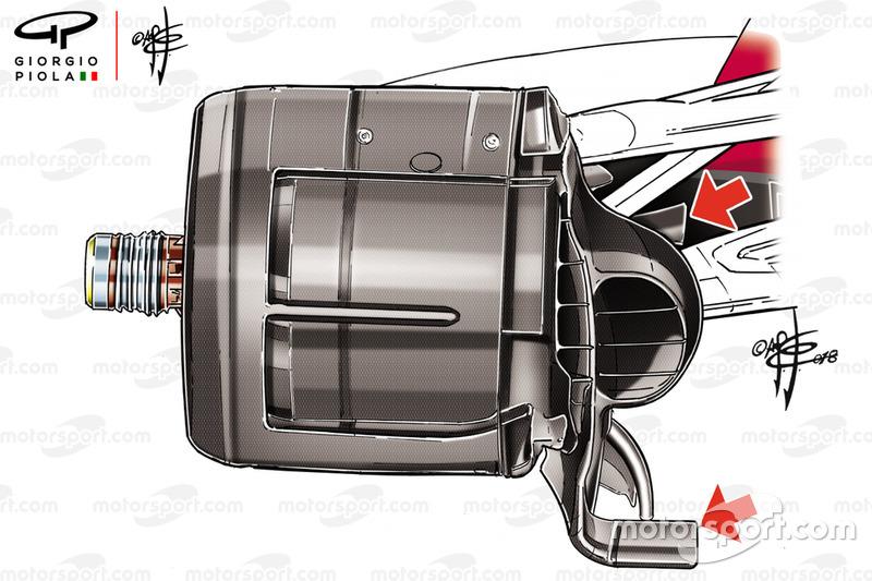 Повітроводи гальм Ferrari SF71 на Сузуці