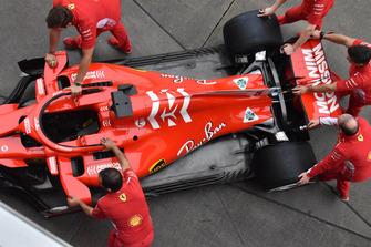 Vue détaillée de la Ferrari SF71H