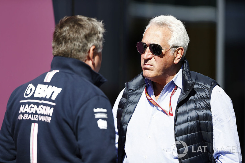 Lawrence Stroll dengan Otmar Szafnauer, Chief Operating Officer, Force India