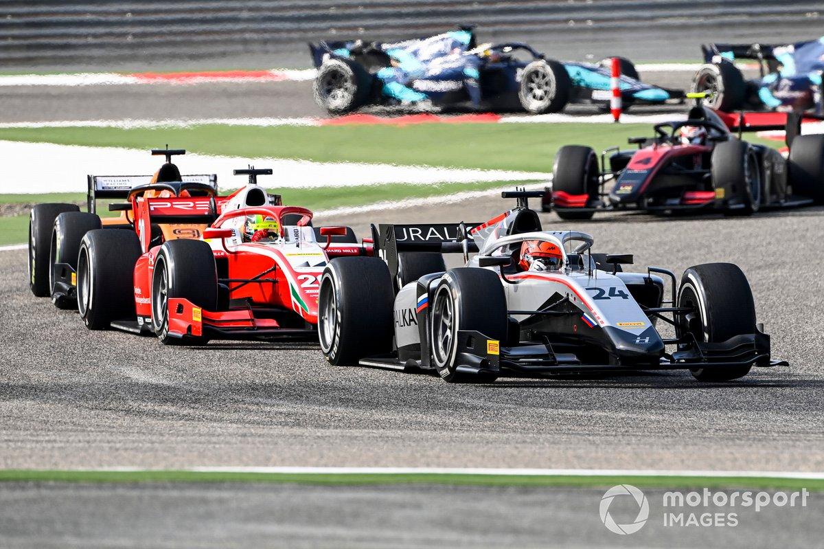 Nikita Mazepin, Hitech Grand Prix and Mick Schumacher, Prema Racing