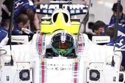 Felipe Massa, Williams, in cockpit