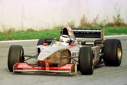 Nigel Mansell tests the Jordan Peugeot