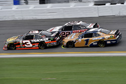 Ty Dillon, Richard Childress Racing Chevrolet, Joey Logano, Team Penske Ford, and Elliott Sadler, JR Motorsports Chevrolet