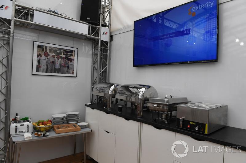 F1 Experiences motorhome and hospitality
