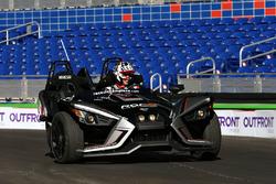 Travis Pastrana driving the Polaris Slingshot SLR