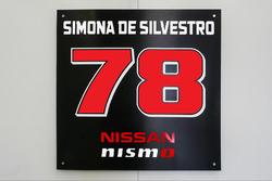 Die Startnummer von Simona de Silvestro