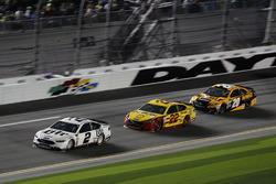 Brad Keselowski, Team Penske Ford; Joey Logano, Team Penske Ford; Matt Kenseth, Joe Gibbs Racing Toyota