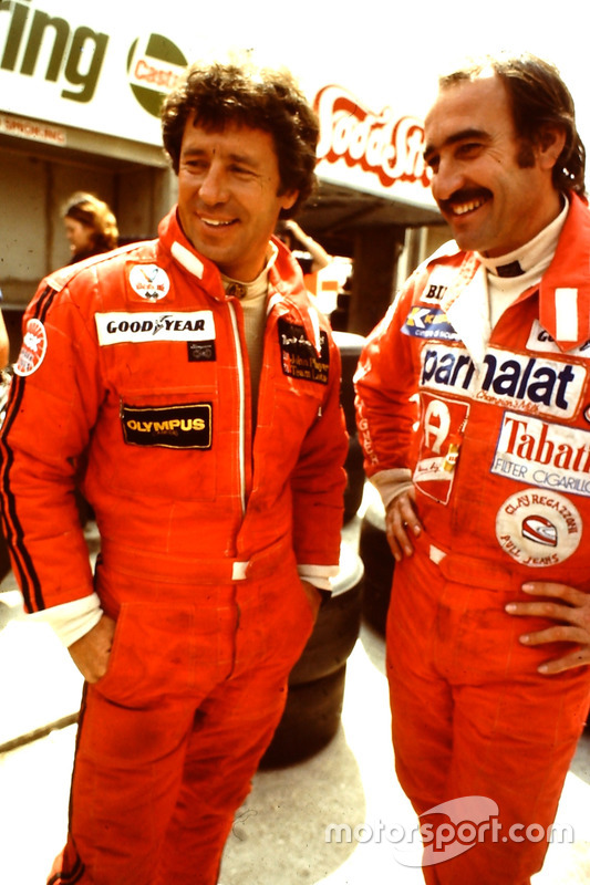 Clay Regazzoni és Mario Andretti