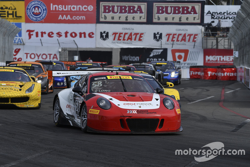 58 wright motorsports porsche 911 gt3 r patrick long at for Long beach motor sports