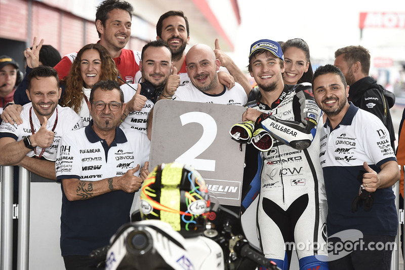 Second place Karel Abraham, Aspar Racing Team
