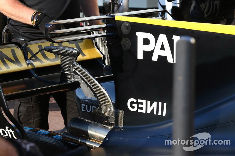 Renault Sport F1 Team RS17, dettaglio della T-wing