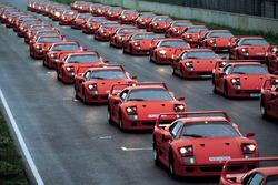 Ferrari F40 bei einer Veranstaltung des deutschen Ferrari-Klubs 1992