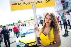 La Grid Girl de Mike Rockenfeller, Audi Sport Team Phoenix, Audi RS 5 DTM