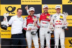 Podium: Race winner René Rast, Audi Sport Team Rosberg, Audi RS 5 DTM, second place Mike Rockenfeller, Audi Sport Team Phoenix, Audi RS 5 DTM, third place Marco Wittmann, BMW Team RMG, BMW M4 DTM