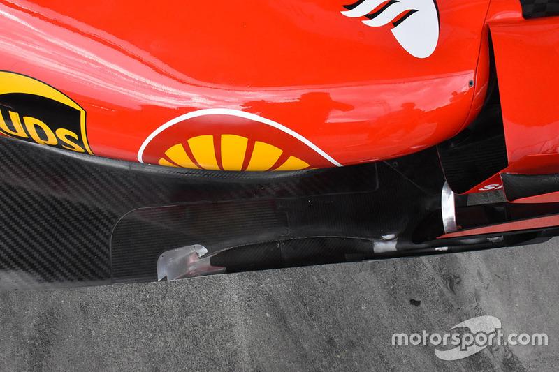 Ferrari SF70H detail van de vloer