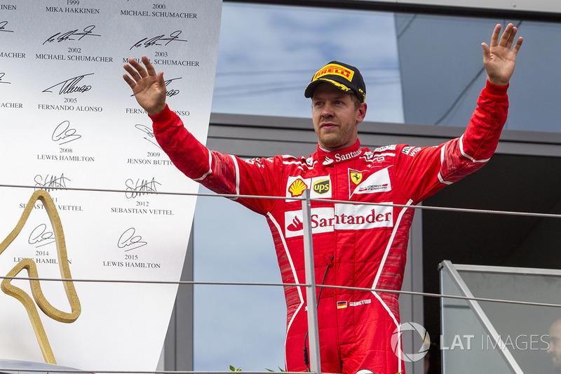 Primera vez de Vettel en el podio de Austria