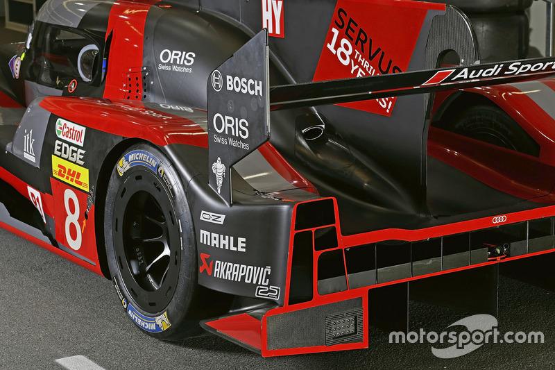 #8 Audi Sport Team Joest Audi R18 detalle trasero
