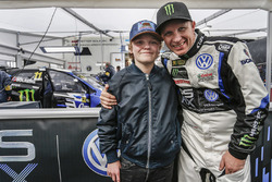 Petter Solberg mit seinem Sohn Oliver Solberg