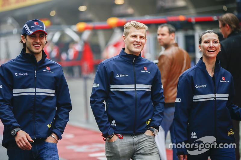 Antonio Giovinazzi, Sauber; Marcus Ericsson, Sauber