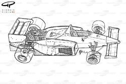 Ferrari 126C4 1984, panoramica dettagliata