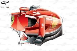 Ferrari SF16-H sidepod changes (smaller inlet, larger undercut)