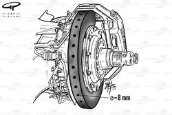 Brembo disc - 8mm diameter drill holes
