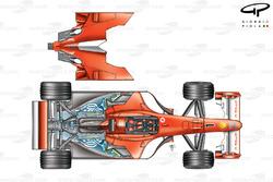 Ferrari F2001 (652) 2001 exploded detail top view