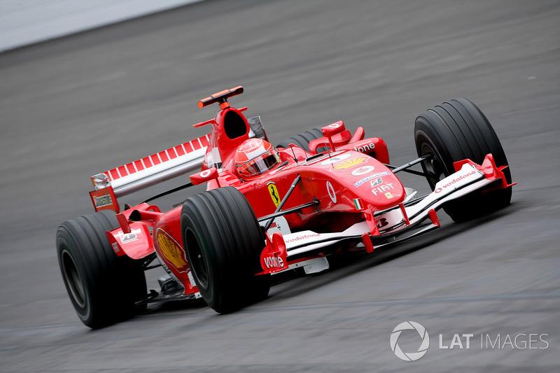2005 - Indianapolis: Michael Schumacher, Ferrari F2005
