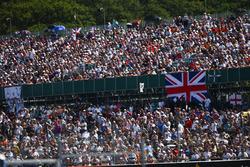 Huge support in the grandstands