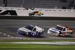 Johnny Sauter, GMS Racing Chevrolet Silverado, Scott Lagasse Jr., Young's Motorsports Chevrolet Silverado