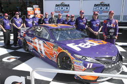 Second place qualifying for Denny Hamlin, Joe Gibbs Racing, FedEx Express Toyota Camry