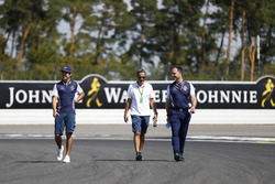 Lance Stroll, Williams Racing, walks the track