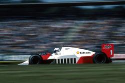 Alain Prost, McLaren MP4 / 2C, 6º lugar, pero se quedó sin combustible.