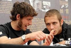 Guy Martin with Valentino Rossi
