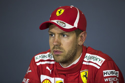 Sebastian Vettel, Ferrari in the Press Conference