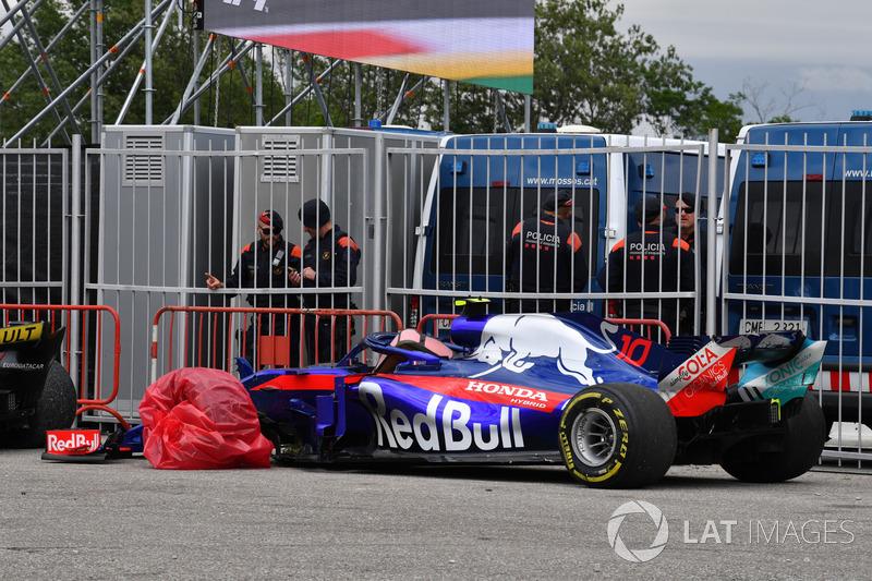 Gasly was furieus op Romain Grosjean