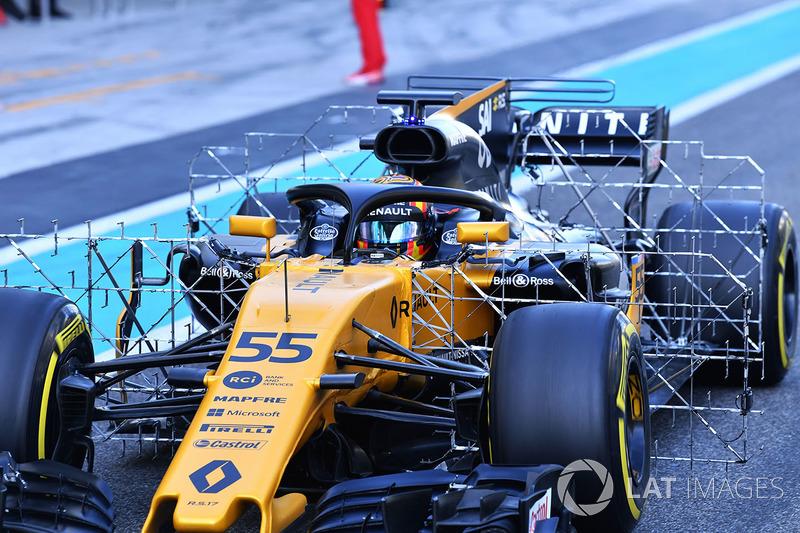 Carlos Sainz Jr., Renault Sport F1 Team RS17 aero sensörleri