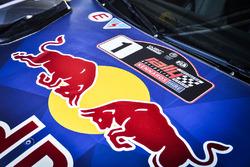Logo Red Bull sur la voiture de Sébastien Ogier, Julien Ingrassia, Ford Fiesta WRC, M-Sport