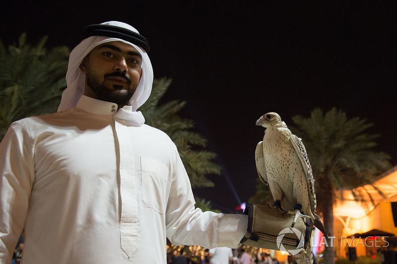 Falcon at the Welcome Party
