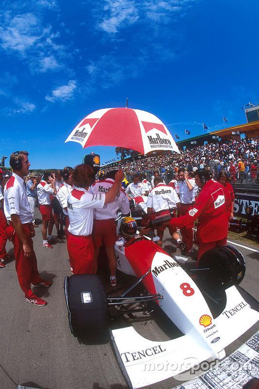 Ayrton Senna, McLaren sur la grille