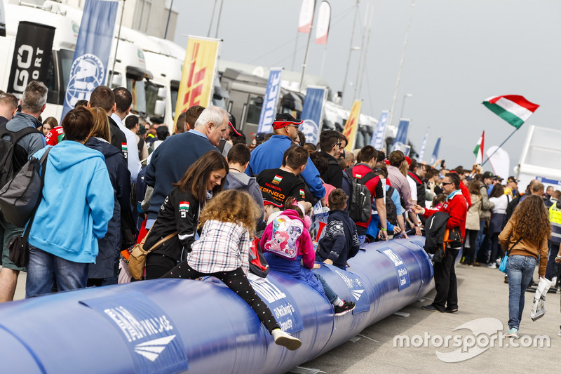 Fans in the paddock