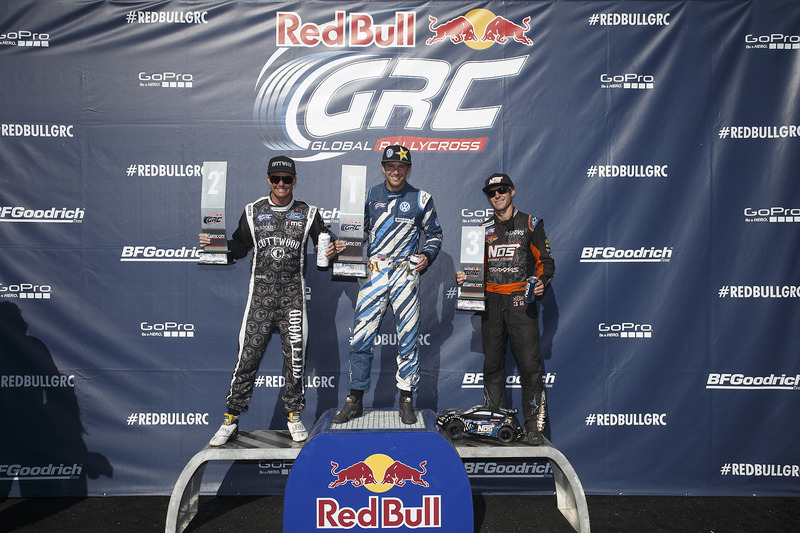 Podium: first place Scott Speed, Volkswagen, second place Patrik Sandell, Ford, third place Brian Deegan, Ford