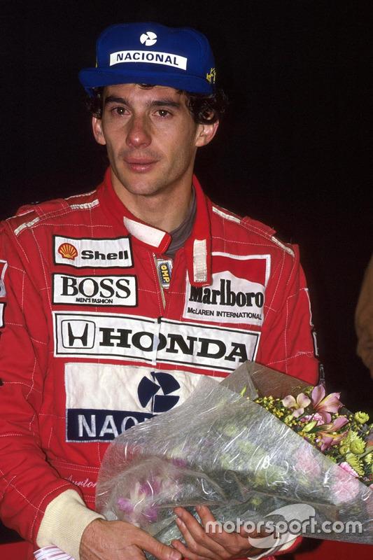 Le Champion du monde 1991 Ayrton Senna, McLaren Honda