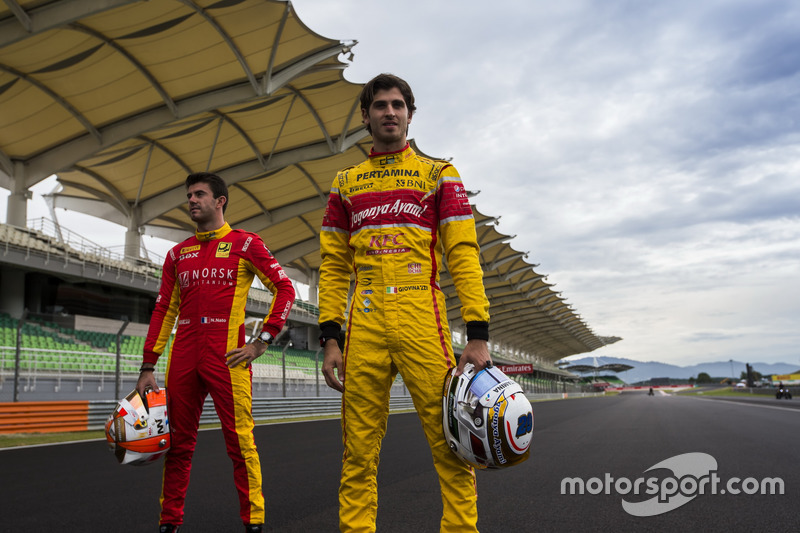 Norman Nato, Racing Engineering; Antonio Giovinazzi, PREMA Racing