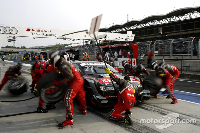 Boxenstopp: Adrien Tambay, Audi Sport Team Rosberg, Audi RS 5 DTM