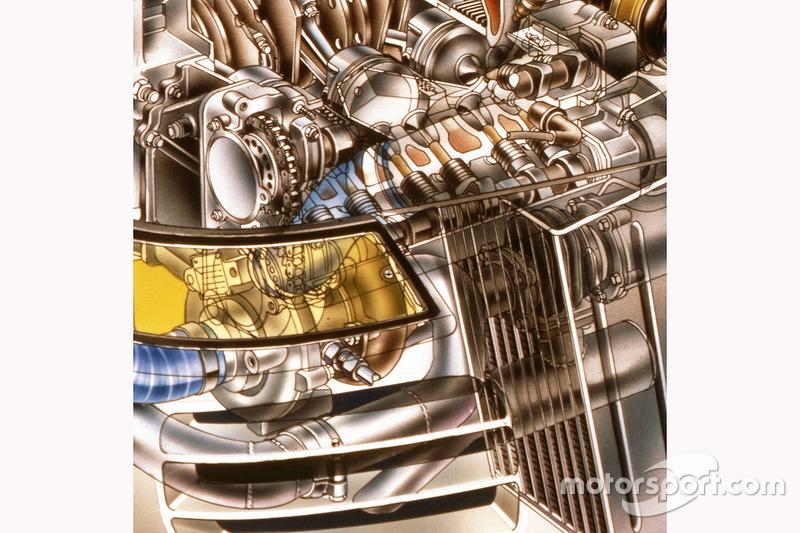Porsche 959 cutaway - sequential turbo