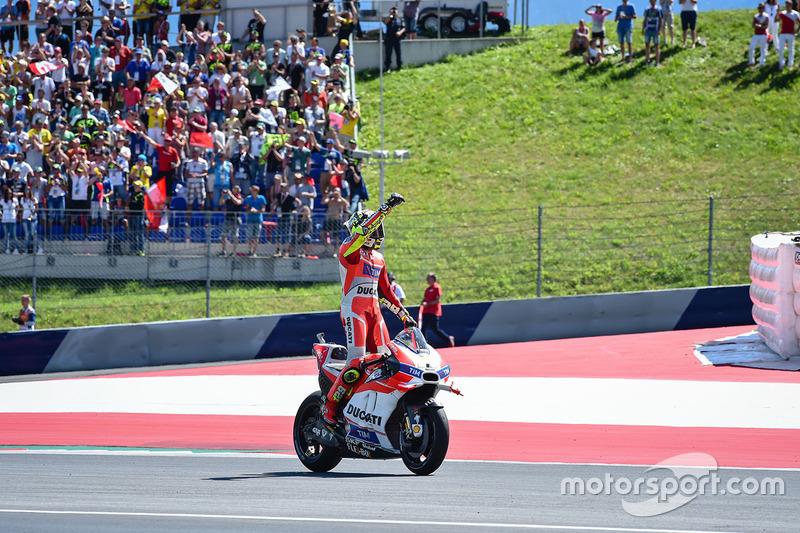 Winner Andrea Iannone, Ducati Team